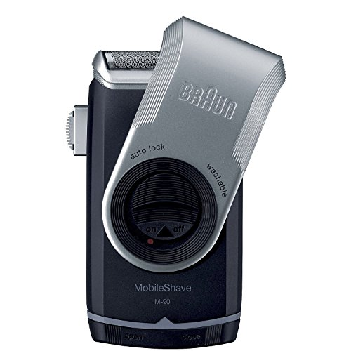Braun M90 Mobile Shaver for Precision Trimming, Great for Travel, Black/Silver (Braun Shaver)