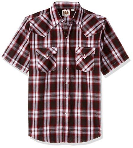 Ely & Walker Mens Short Sleeve Plaid Western Shirt