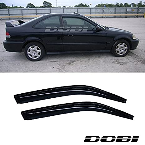 2000 honda civic coupe rain guards