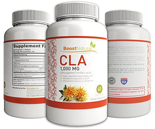 Pure CLA Diet Supplement - High Absorption Formula Conjugated Linoleic Acid - GMP Certified Natural Weight Loss Pill - Best Fat Burner & Lean Body Builder for Men & Women - 30 Day Supply