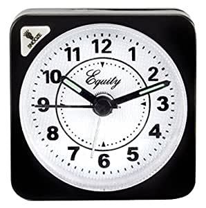 LA CROSSE TECHNOLOGY Advance Feature Black Case Quartz Cube Alarm Clock