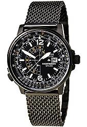 Citizen Eco-Drive Nighthawk Black Dial SS Quartz Men's Watch BJ7009-58E
