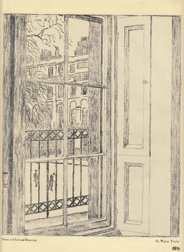 View from a Window - From a Charcoal Drawing- 1920 Illustration