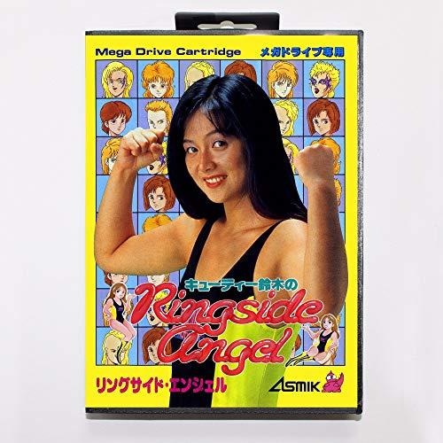 (The Crowd Tradensen Cutie Suzuki No Ringside Angel Game Cartridge 16 Bit Md Game Card with Retail Box for Sega Mega Drive for Genesis)