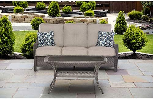 Hanover ORLEANS2PC-G-SLV Orleans 2 Piece Patio Sofa Set Lining Outdoor Furniture