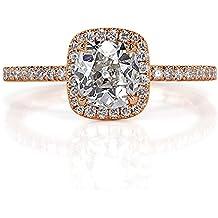 Mark Broumand 1.30ct Old Mine Cut Diamond Engagement Ring