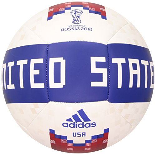 World Cup Soccer Official Licensed Product Usa Ball, Size 5, White/Collegiate Green/Red (Soccer Ball Usa Adidas)