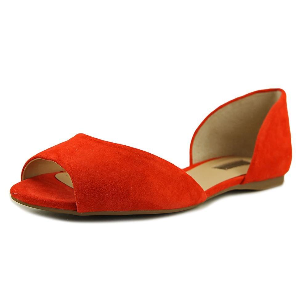 INC International Concepts Frauen Elsah Peep Toe Leger Leder Flache Sandalen43 EU / 12 US Frauen Spring Red