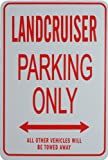 LANDCRUISER PARKING ONLY - Miniature Parking Signs Ideal for the motoring enthusiast
