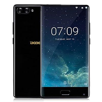 DOOGEE MIX Smartphone Libre, 4G Teléfono Inteligente(Cuerpo de Metal, 5.5 Pulgadas HD Pantalla, Android 6.0, 6GB RAM + 64GB ROM, Cámaras Triples, Batería 3380mAh, Dual SIM, Huella Dactilar), Negro