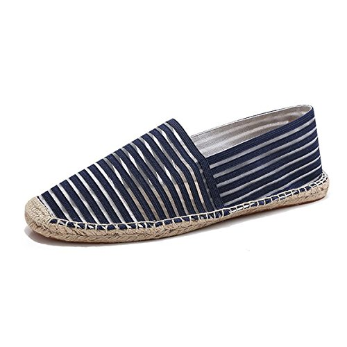 LaRosa Casual Stripe Women Espadrilles,Blue,12 B(M) (Womens Canvas Espadrilles)