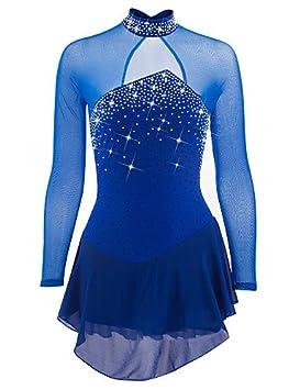 Heart&M Vestido de patinaje artístico femenino, mujeres, patinaje sobre hielo, competencia, rendimiento