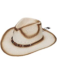 aeed202ae00 Mens Straw Weave Western Cowboy Hat Outdoor Wide Brim Hat w Band Decor