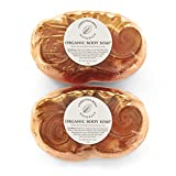 Body Soap Glycerin Bath Bar Made With Organic & Natural Ingredients - Skin Moisturizing, Gentle, Non Drying, Non Irritating. For Women & Men - No Harmful Chemicals - 2 Bar Set. Christina Moss Naturals