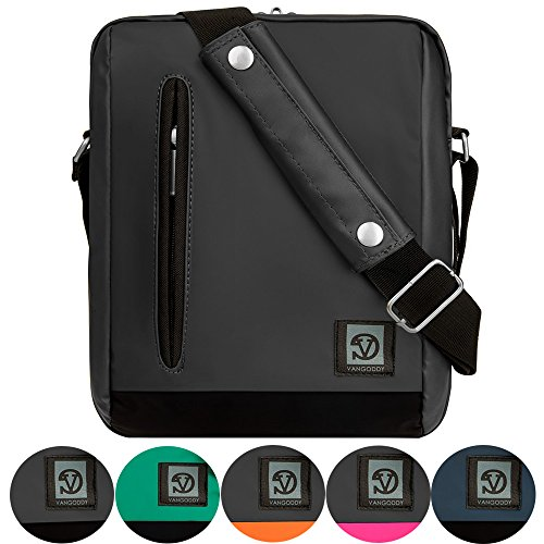 Men's Women's Waterproof Nylon Vertical Messenger Style Laptop Sleeve Case Bag Cover Backpack for 11 Inch Laptop Macbook Air iPad Pro 10.5 (Grey) (Carry Ipads For Bags)