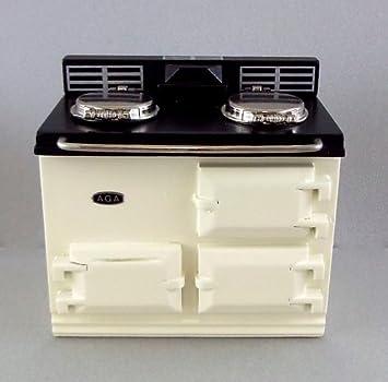 Puppenhaus Miniatur 112 Massstab Reutter Kuchen Mobel Creme Aga Herd Ofen