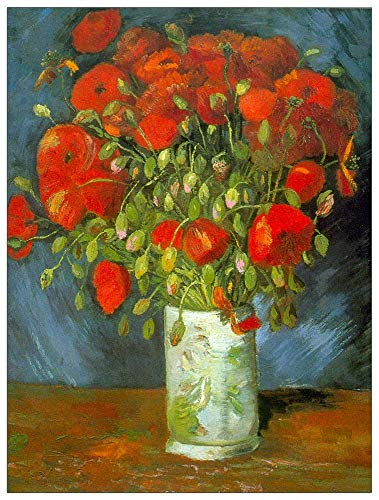(ArtPlaza TW90833 Van Gogh Vincent-Red Poppies Decorative Panel, 39.5x51 Inch, Multicolored)