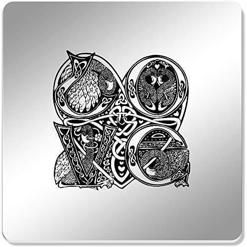 Azeeda 6 x 'Celtic Love Birds' 95mm Mirror Coasters (CR00045634) (Birds Love Celtic)