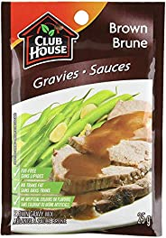 Club House, Dry Sauce/Seasoning/Marinade Mix, Brown Gravy, 25g, Case Pack 18 Count - Packaging May Vary