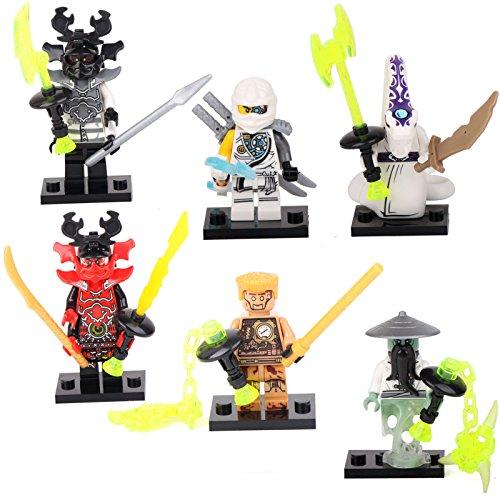 6 Ninja Ninjago Yang Pythor Echo Zane Kozu Minifigures Building Bricks Toys lEGO