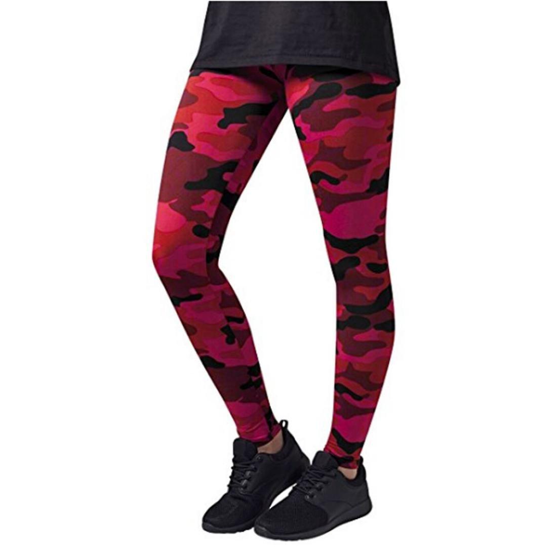 Pantalones atl/éticos del entrenamiento de la yoga del entrenamiento de la yoga del camuflaje de las mujeres Zarup/♥/♥/♥ Pantalones de yoga