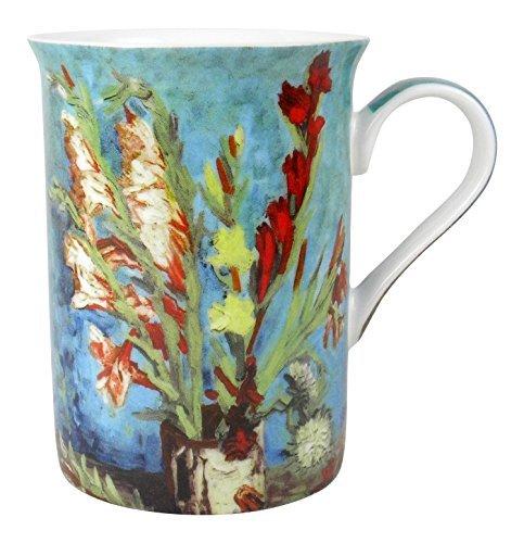 - Heath McCabe Vincent Van Gogh Vase with Gladioli Fine Bone China Mug