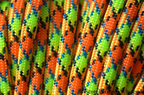ZOMBIE! VIRUS 550 Paracord - Parachute Cord - 7 Strand Military Spec Type III -USA MADE - 100 ft ()