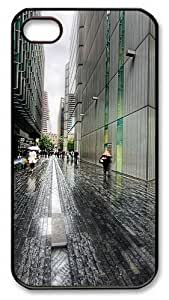 iPhone 4S Case and Cover -London Street Rainy Weather PC case Cover for iPhone 4 and iPhone 4s ¡§CBlack