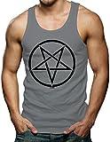 Pentagram Men's Tank Top T-shirt (Medium, CHARCOAL)