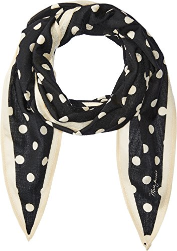 Marc Jacobs Women's Polka Dot Diamond Stole Scarf, Black Multi, One Size by Marc Jacobs