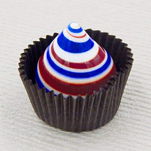 Glass Chocolate Patriotic Swirl Handmade Gift