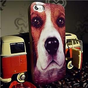 DD Flash Powder TPU Dog Head Pattern Back Case for iPhone 5/5S