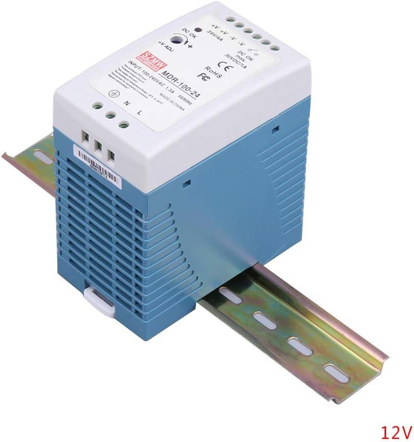 Uokoki MDR-100 100W 40-63Hz Simple Salida 12V 24V Montaje en ...