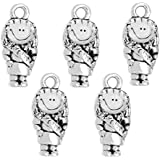 (5) Clayvision Scout Brownie Daisy Girl Charm