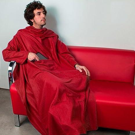 Bata manta Manta con mangas para sofa bata bolsillo para mando libro etc talla unica: Amazon.es: Hogar