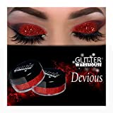 Devious GlitterWarehouse Red Holographic Loose Glitter Powder Great for Eyeshadow / Eye Shadow, Makeup, Body Tattoo, Nail Art and More!