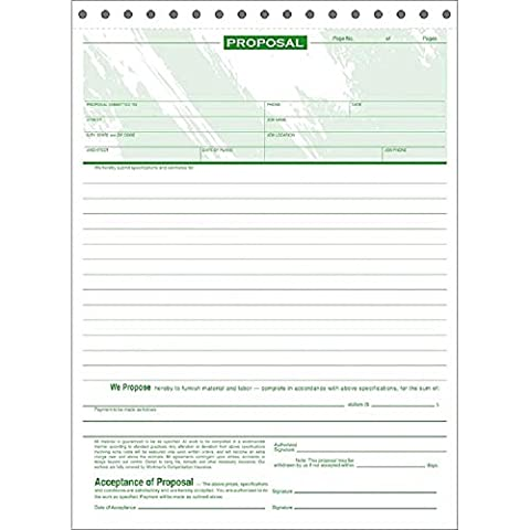 Triplicate Carbonless Proposal Forms - Carbonless Triplicate Proposal Form