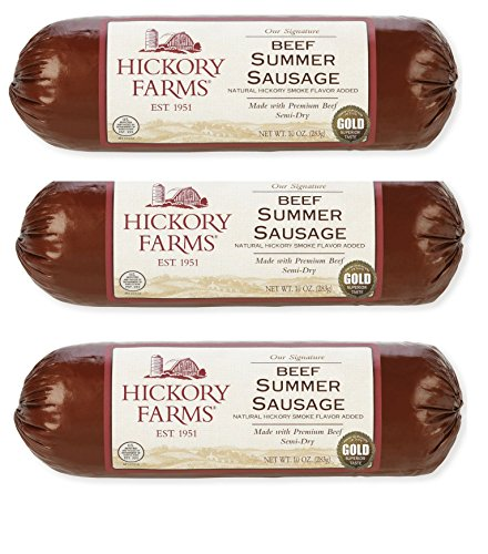 Hickory Farms Beef Summer Sausage 10oz (Pack of 3)