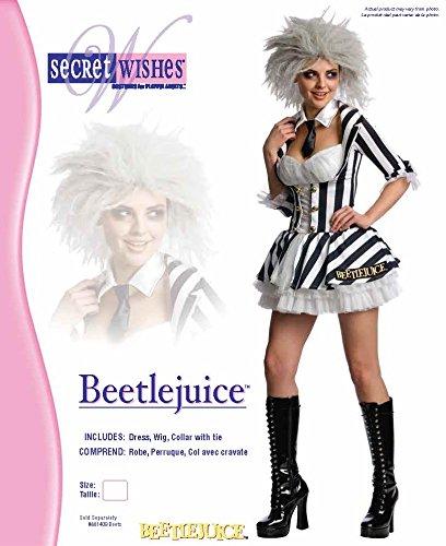 Rubies Disfraz de Beetlejuice sexy con peluca para mujer, disfraz de Halloween: Amazon.es: Juguetes y juegos