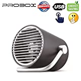 Mediasonic ProBox USB Fan, Desk/Table Fan for Home and Office (Touch Control, and Ultra Quiet) (Black)