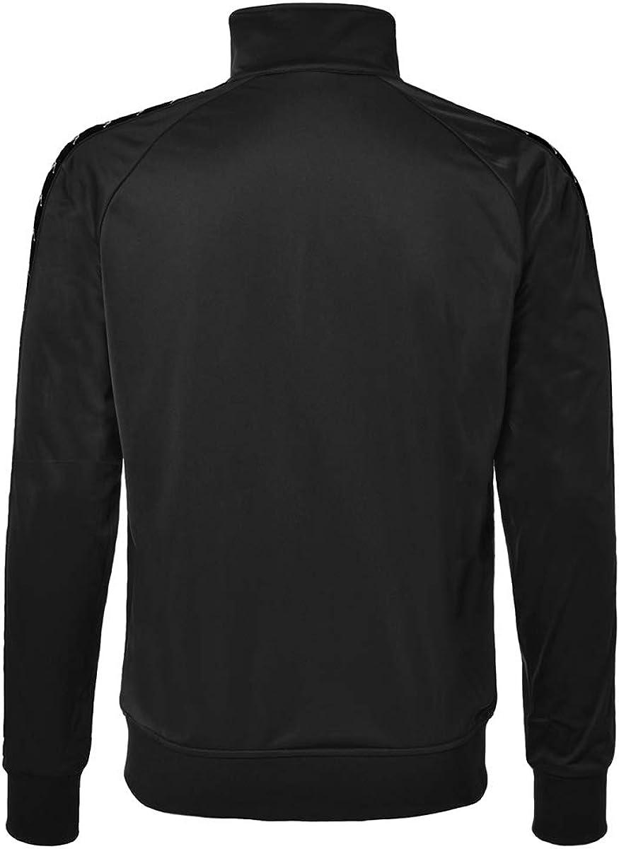 Kappa Mens 222 Banda Anniston Slim Fit Jacket Black