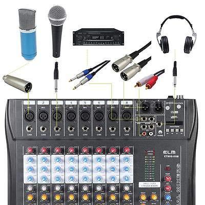 FidgetGear CT80S-USB 8 Channel Professional Live Studio Audio Mixer Mixing Console I7Y6 from FidgetGear