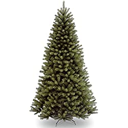 National Tree 7.5 Foot North Valley Spruce Christmas Tree, Hinged (NRV7-500-75)
