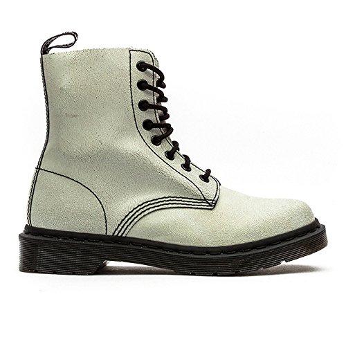 Dr. Martens Unisex Pascal 8-Eye Boot White/Black/Cristal Suede Boot UK 3 (US Women's 5) Medium