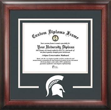 michigan state university spartans college mascot spirit mat cutout diploma frame - Michigan State Diploma Frame