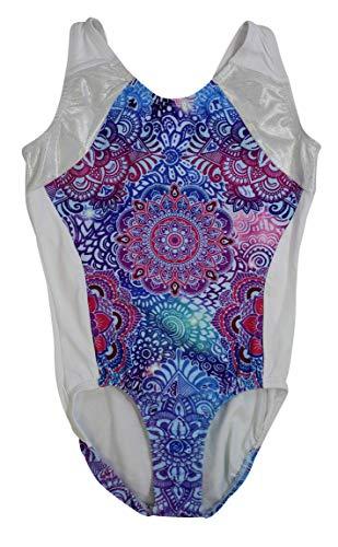 Gymnastic leotards,sublimated Floral Paisley, size CS style#1102Flow (Leotard Cs)