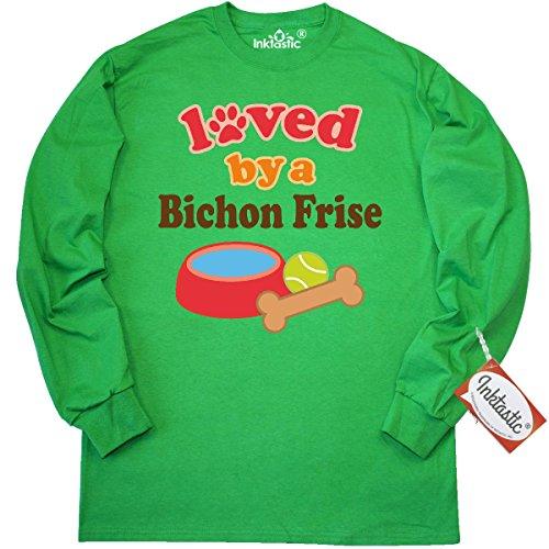 INKtastic Bichon Frise dog Lover Long Sleeve T-Shirt XXX-...