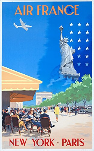 air-france-new-york-paris-vintage-poster-artist-guerra-france-c-1951-16x24-giclee-gallery-print-wall