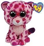 Ty Beanie Boos Glamour Leopard Plush, Pink, Medium, Baby & Kids Zone