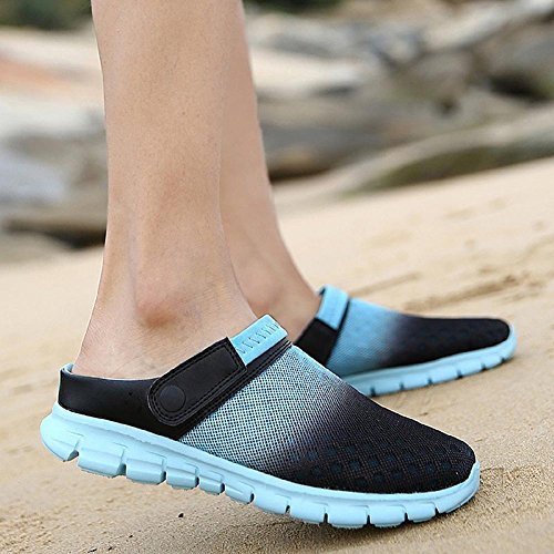 Nahua Unisex Garden Clogs - Gradient Mens Womens Slippers Summer Sandals Soft Non-Slip Shoes Fashion Breathable Footwear Walking Work Casual Flats Slip On Shoes Blue